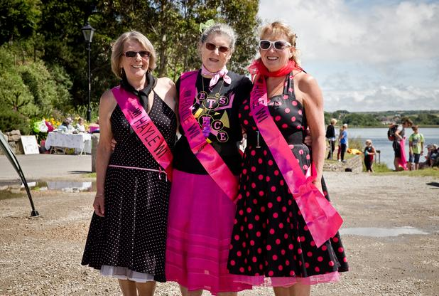 Joan Fulton, Trish Walker and Margaret Stockton from Hayle WI at Hayle Celebration Day 2016